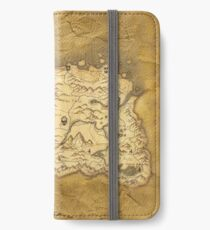 Skyrim Worn Parchment Map iPhone Wallet/Case/Skin