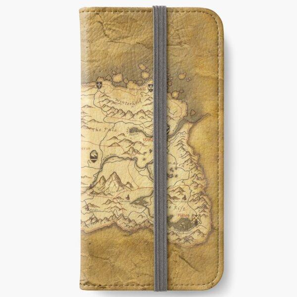 Skyrim Worn Parchment Map iPhone Wallet