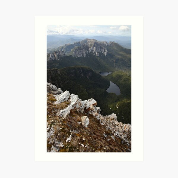 Frenchmans Cap Summit View, Franklin-Gordon Wild Rivers National Park, Tasmania, Australia Art Print