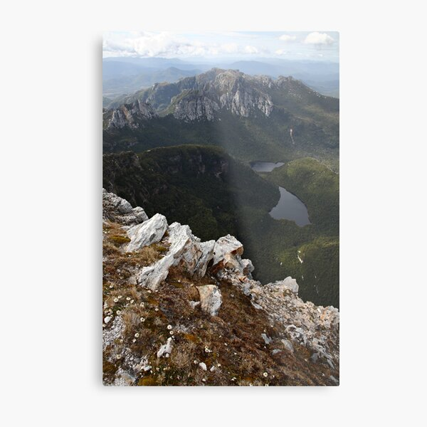 Frenchmans Cap Summit View, Franklin-Gordon Wild Rivers National Park, Tasmania, Australia Metal Print