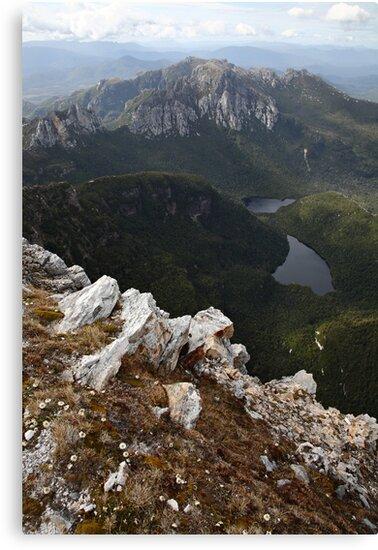 Frenchmans Cap Summit View, Franklin-Gordon Wild Rivers National Park, Tasmania, Australia by Michael Boniwell