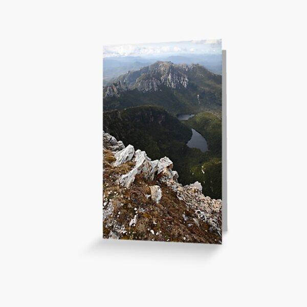 Frenchmans Cap Summit View, Franklin-Gordon Wild Rivers National Park, Tasmania, Australia Greeting Card