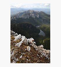 Frenchmans Cap Summit View, Franklin-Gordon Wild Rivers National Park, Tasmania, Australia Photographic Print