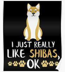 Funny Shiba Inu Gifts Cute Shiba Inu Gift Dog Lovers Gift Poster