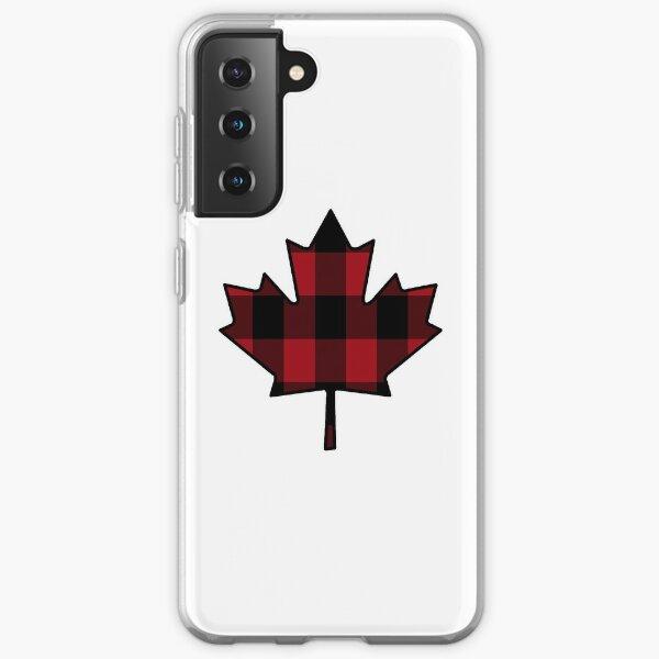 Maple Leaf in Plaid Samsung Galaxy Soft Case