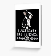 Boston Terrier Gifts for Dog Lovers Gift Greeting Card