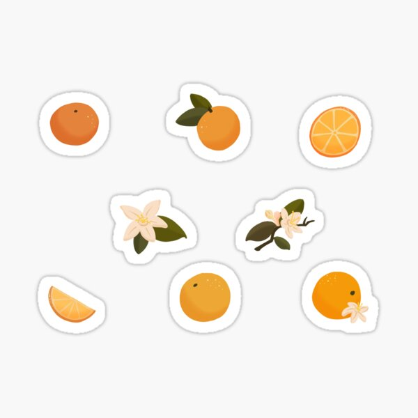 Orange Blossoms Sticker