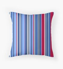 Red blue stripes  Throw Pillow