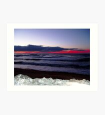Sunset-Margaree Harbour Art Print