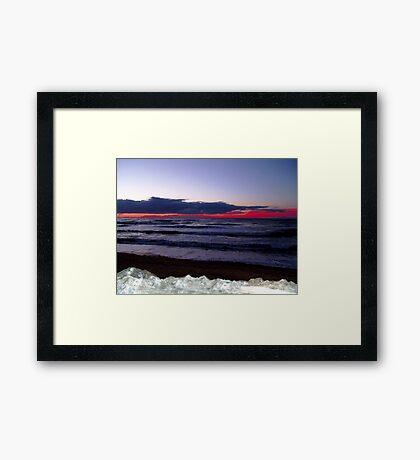 Sunset-Margaree Harbour Framed Print