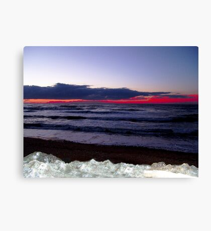 Sunset-Margaree Harbour Canvas Print