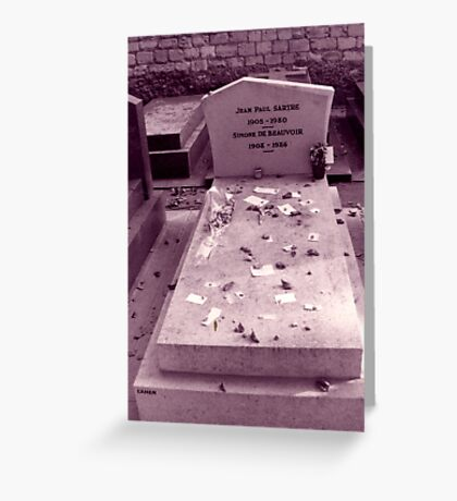 The grave of Beauvoir & Sartre Greeting Card