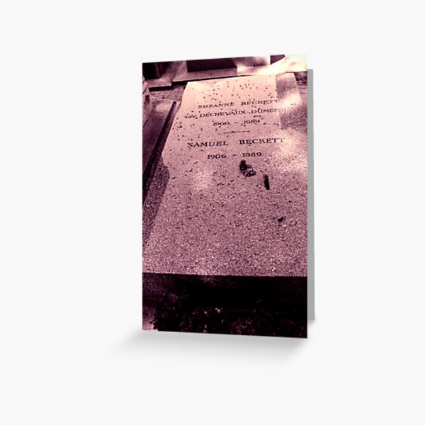 The grave of Samuel Beckett Greeting Card