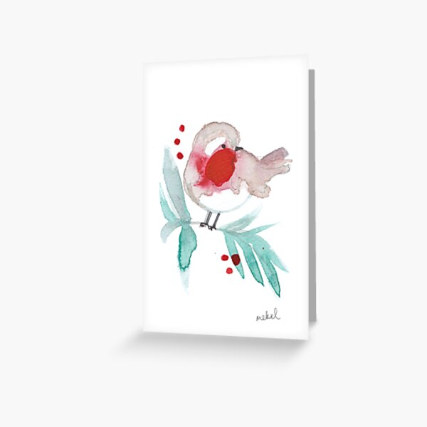 Red Robin 2 Greeting Card