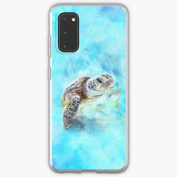 Meeresschildkröte-Aquarellkunst von George Dyachenko Samsung Galaxy Flexible Hülle