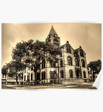 Erath County Courthouse (Sepia-toned) Poster