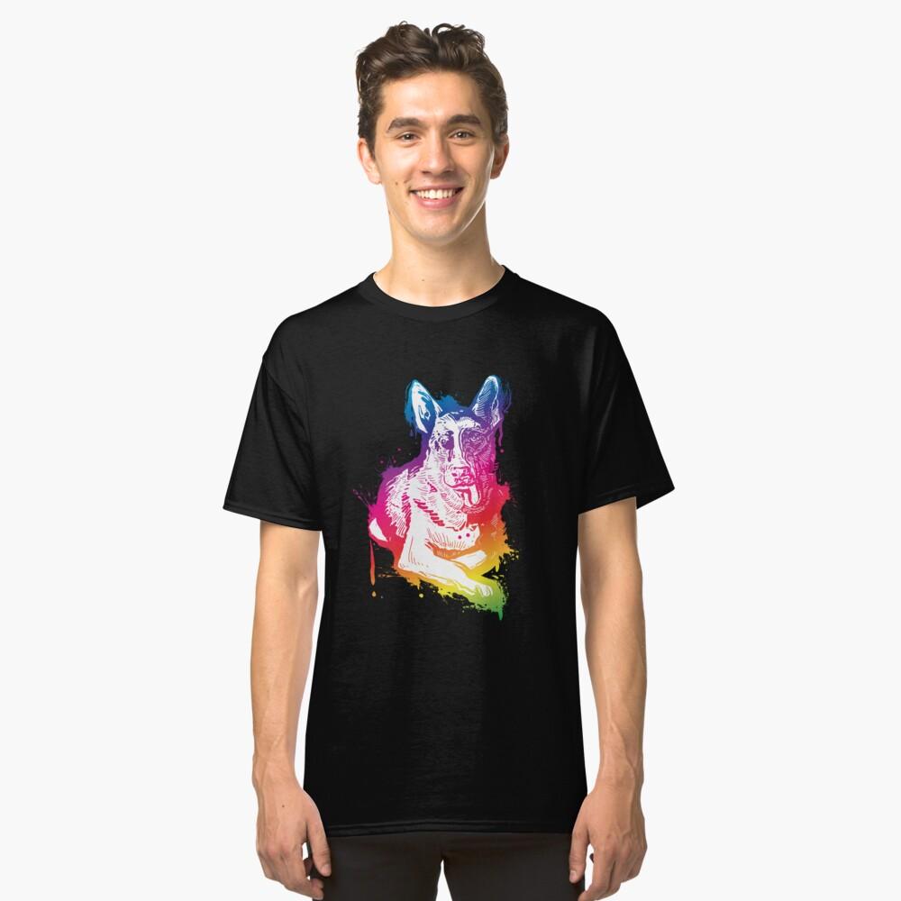'Splash Art German shepherd' German Shepherd Dog  Classic T-Shirt Front