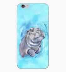 Flusspferd-Baby-Aquarellkunst von George Dyachenko iPhone-Hülle & Cover