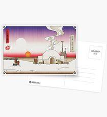 Lars Moisture Farm Japanese Woodblock Postcards