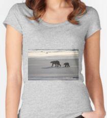 Silver Glow. Polar Bears at Sundown, Churchill, Canada  Women's Fitted Scoop T-Shirt