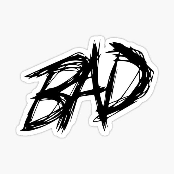 BAD - Imprimé noir Sticker