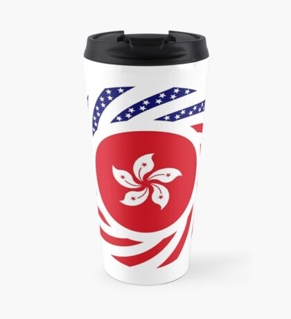 Hong Kong American Multinational Patriot Flag Series Travel Mug