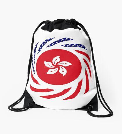 Hong Kong American Multinational Patriot Flag Series Drawstring Bag
