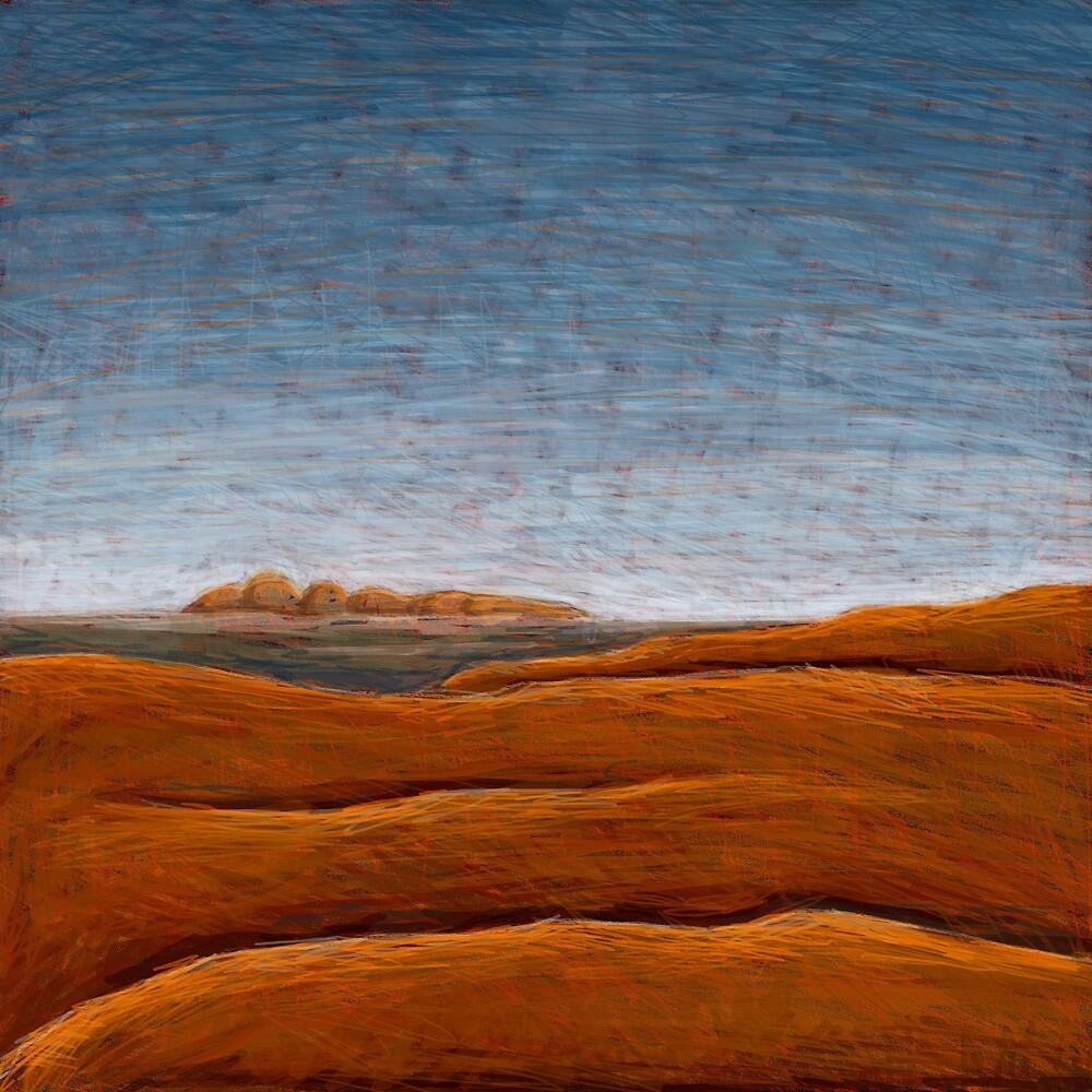 The Olgas from Uluru by Julian Newman