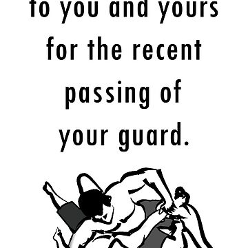 Passing of the guard condolences by StReaKeR818