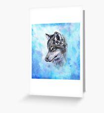 Wolf-Aquarellkunst von George Dyachenko Grußkarte