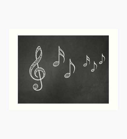 Musiknoten auf Tafel 4 Kunstdruck