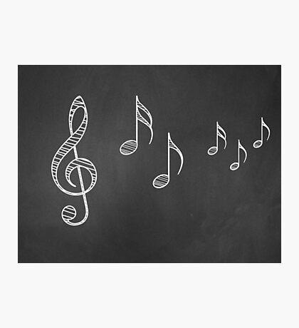 Musiknoten auf Tafel 4 Fotodruck