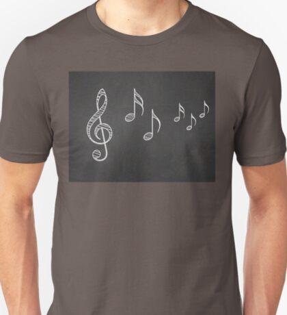 Musiknoten auf Tafel 4 T-Shirt