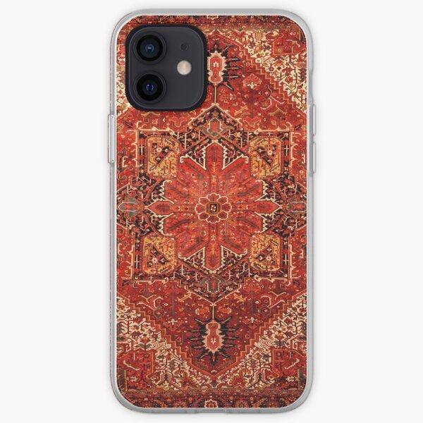 Antique Persian Rug Red Black Carpet Pattern iPhone Soft Case