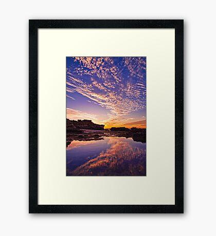 Hunters Beach Reflection Framed Print