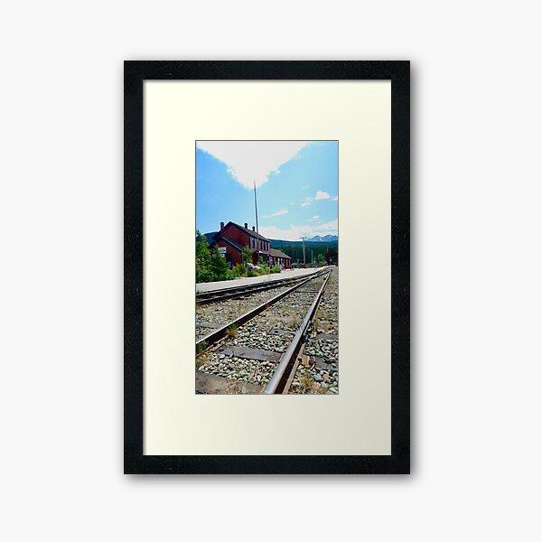 Carcross Railroad Framed Art Print