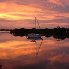 Boat at Sunset, Yamba by groophics