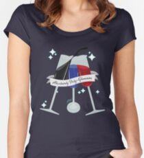 Poly-Glamorous Women's Fitted Scoop T-Shirt
