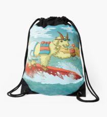 Beach Goat Drawstring Bag
