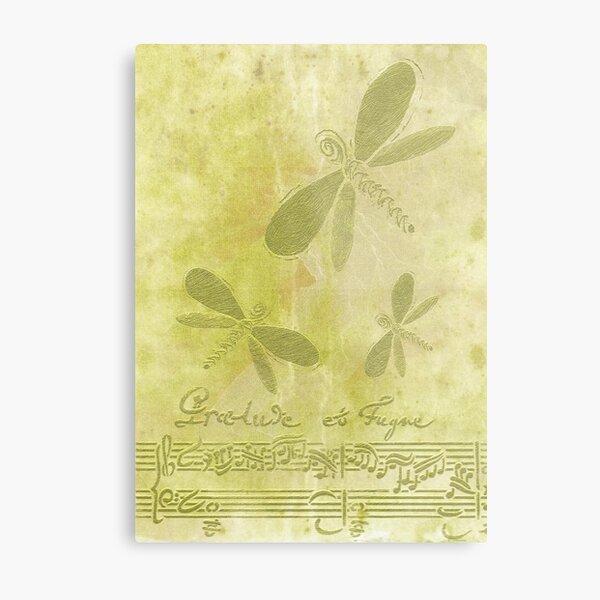 Dragonflies and Music Metal Print