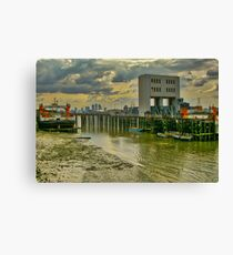London from the Thames Canvas Print