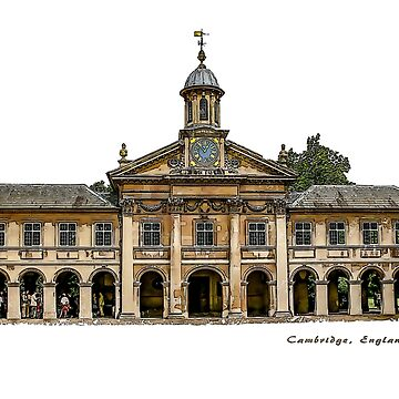 Emmanuel College in Cambridge, England by flashcompact