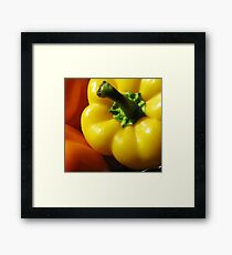 yellow pepper Framed Print