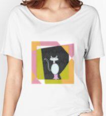 KITTY boots cartoon ART, Pencil SKIRT Women's Relaxed Fit T-Shirt