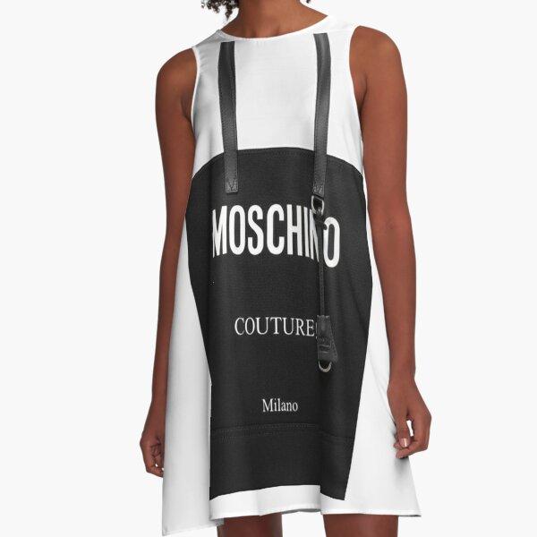 Black Moschino Couture Milano A-Line Dress