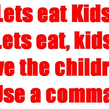 Use a Comma by simbatron
