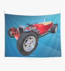Red Bucket Wall Tapestry