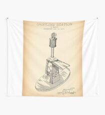 GASOLINE STATION vintage patent Wall Tapestry