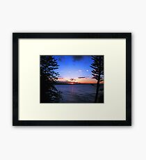 Sunset at Currumbin Beach Framed Print