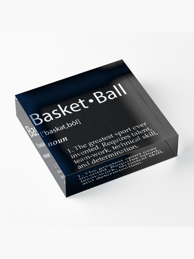 Alternate view of Basketball Acrylic Block